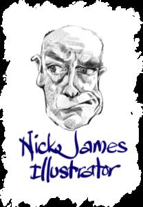 logo for nick james illustrator nickjamesillustrator
