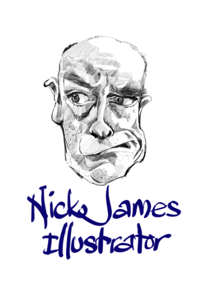 logo for nick james illustrator nickjamesillustrator
