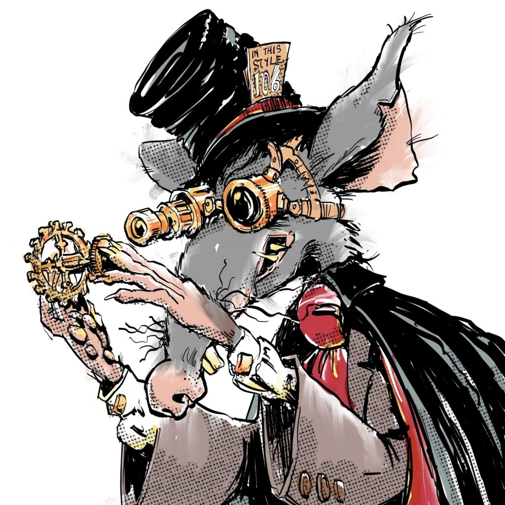 Illustration of Prof Squeakistein by Nick James Illustrator