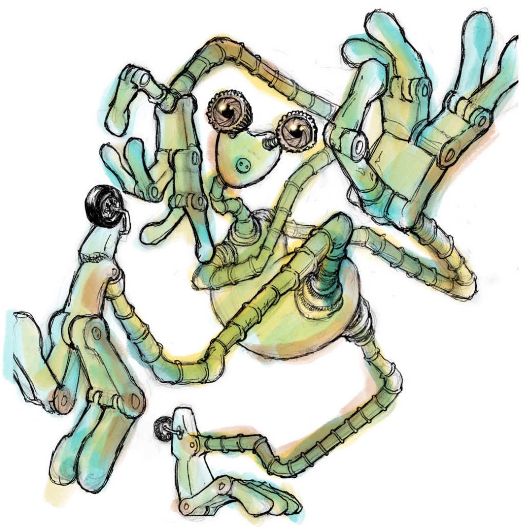 Random Robot drawn by Nick Jmes Illustrator for Arik at Drawmearobot on instagram